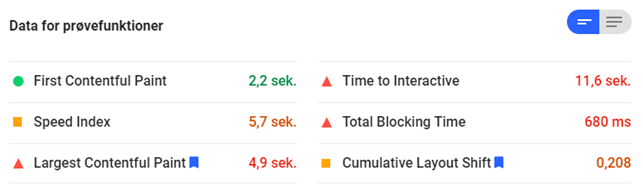 Pagespeed CLS
